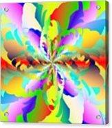 Flamboyant Fractal Fire Flower Acrylic Print