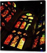 Flamboyant Stained Glass Window Acrylic Print