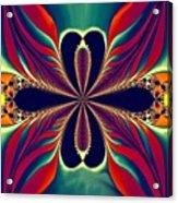 Flame Blossom Acrylic Print