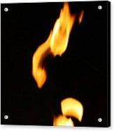 Flame Face Acrylic Print