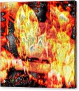 Flame Gems Acrylic Print