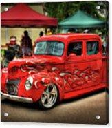 Flame Hot Truck Acrylic Print
