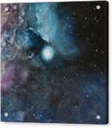 Flame Nebula Ngc 2024 - Triptyc Right Panel Acrylic Print