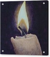 Flame Acrylic Print by Ron Sylvia