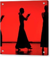 Flamenco Red An Black Spanish Passion For Dance And Rithm Acrylic Print