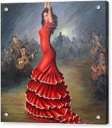 Flamenco Dancer Acrylic Print by Mai Griffin