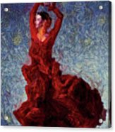 Flamenco Senorita Fuerza Acrylic Print