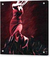 Flamenco Swirl Acrylic Print by James Shepherd