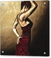 Flamenco Woman Acrylic Print