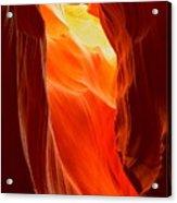 Flames At Upper Antelope Acrylic Print