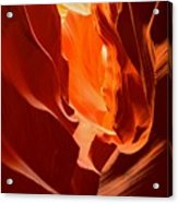 Flames In The Walls Of Antelope Acrylic Print
