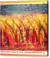 Flames Inferno On A Nice Background - Postcard Acrylic Print
