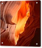 Flames Under The Arizona Desert Acrylic Print