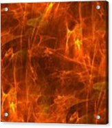 Flaming Background Acrylic Print