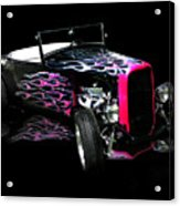 Flaming Hot Roadster  Acrylic Print