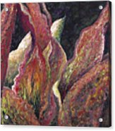 Flaming Leaves Acrylic Print