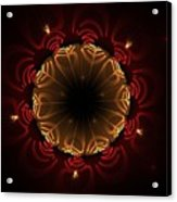 Flaming Night Flower Acrylic Print