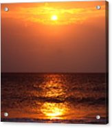 Flaming Sunrise Acrylic Print