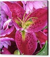 Flaming Tiger Lily Acrylic Print