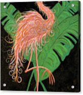 Flamingo Art Deco  Acrylic Print