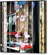Flamingo Cabin Acrylic Print