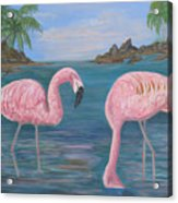 Flamingo Cove Acrylic Print