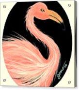 Flamingo Deco Acrylic Print
