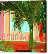 Flamingo Plaza Acrylic Print