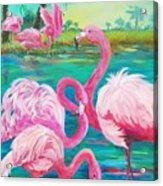 Flamingo Vacation Acrylic Print