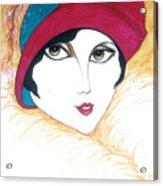 Flapper Girl 1 Acrylic Print