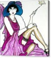 Flapper Girl 4 Acrylic Print