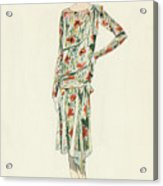 Flapper In An Afternoon Dress Acrylic Print
