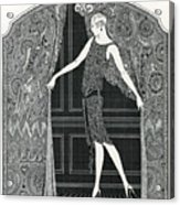 Flapper Opening A Curtain Acrylic Print