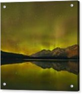 Flaring Northern Lights Acrylic Print