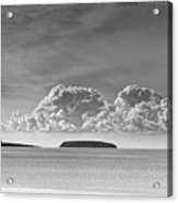 Flat Holm And Steep Holm Mono Acrylic Print