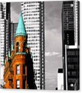 Flat Iron Building Toronto Acrylic Print by John  Bartosik