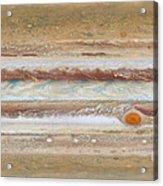 Flat Map Of Jupiter Acrylic Print