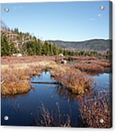 Flat Mountain Ponds - Sandwich Wilderness White Mountains Nh Acrylic Print