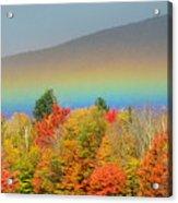 Flat Rainbow Acrylic Print