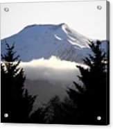 Flat Top Floating Through The Trees Acrylic Print
