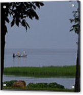Flat Water Fishing Acrylic Print