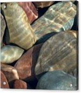 Flathead River Rocks Acrylic Print