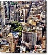 Flatiron Building From Above - New York City Acrylic Print