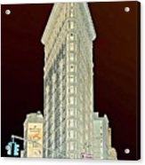 Flatiron Building Inverted Acrylic Print
