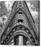 Flatiron Building  Nyc Black And White Acrylic Print