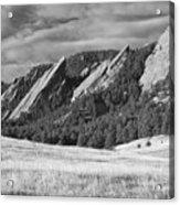 Flatiron Morning Light Boulder Colorado Bw Acrylic Print