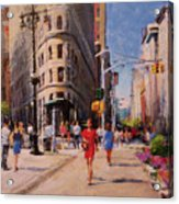 Flatiron Plaza, Summer Morning Acrylic Print