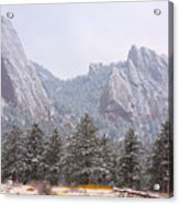 Flatirons From The South Boulder Colorado Acrylic Print