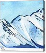 Flattop Through Ptarmigan Peak, Alaska Acrylic Print