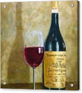 Flawless Red Original Wine Painting Acrylic Print